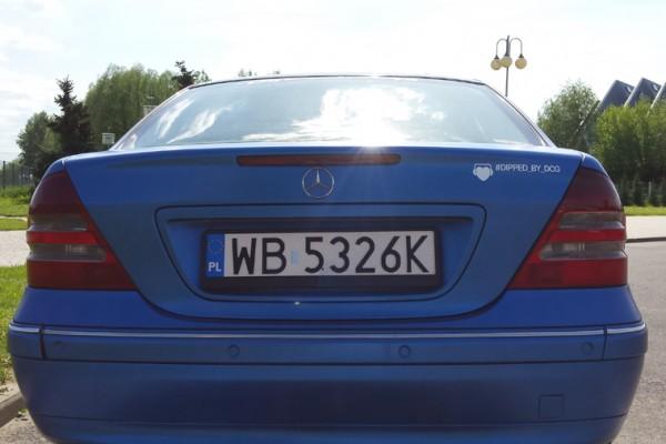 Mercedes w203 Plasti Dip World Rally Blue 14