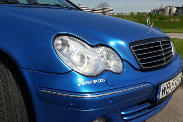 Mercedes w203 Plasti Dip World Rally Blue 18
