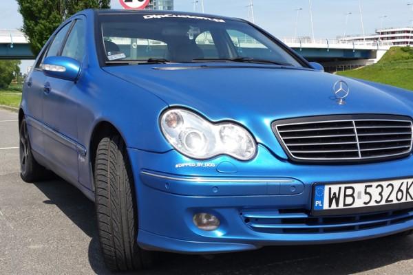 Mercedes w203 Plasti Dip World Rally Blue 4