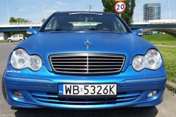 Mercedes w203 Plasti Dip World Rally Blue 8