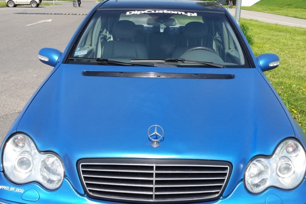 Mercedes w203 Plasti Dip World Rally Blue 6