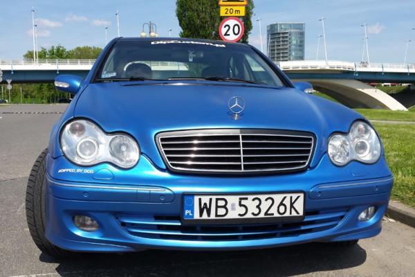Mercedes w203 Plasti Dip World Rally Blue 5